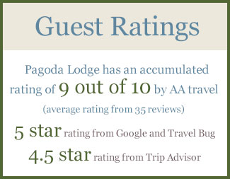 Ratings and Reviews for Pagoda Lodge